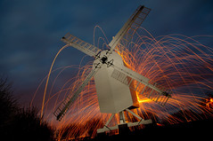 174/366 How long 'til gets dark?! (ubiquitous_images) Tags: longexposure nightphotography orange lightpainting windmill kent nikon canterbury 365 lightpainter p14 wirewool 366 d90 project365 nikond90 ledlenser kevinfrancis woolspin ubiquitousimages