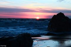 Il mare di Big White (mio fratello).. (Le-Cap) Tags: sunset sea sky canon tramonto mare cielo l sole spiaggia 24105