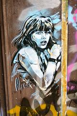Alice Pasquini (dprezat) Tags: street urban paris art painting stencil alice tag graf peinture aerosol bombe pochoir pasquini sonyalpha700