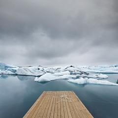 Jokulsarlon (Glacier Lagoon) (Mute*) Tags: cloud lake ice pier iceland low lagoon boulder glacier iceberg chunks canonef1740mmf4lusm jokulsarlon jökulsárlón