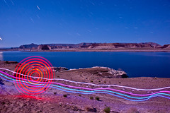 Going with the Flow (TxPilot) Tags: longexposure light lightpainting art night painting stars photography lights graffiti utah nationalpark nikon long exposure paint bright lasvegas arches led lap nightsky lighttrails np movinglights archesnationalpark lightgraffiti shorline lakepowell startrails dlw concentriccircles vegastrip lightpaint pagearizona lightemittingdiode stonearches d700 lightgraf lightartphotography digitallightwand lightpaintingtoolscom
