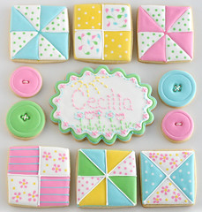 Quilt Cookies (Glorious Treats) Tags: cookies crossstitch embroidery sewing button quiltcookies