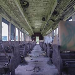 (.tom troutman.) Tags: ny newyork abandoned 120 6x6 film train mediumformat fuji decay bronica 100 sq reala
