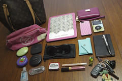 What's in my Bag, 2013 (Cristina Robinson) Tags: pink apple eos mac chanel victoriassecret tiffanyco louisvuitton moleskin bathbodyworks katespade michaelkors bareminerals tweezerman ipodclassic iphone5 ipad2
