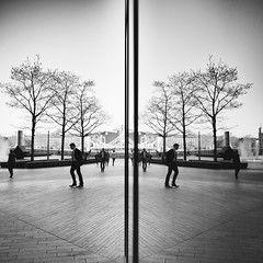 XI (Theo Brainin) Tags: city bw white black reflection london monochrome thames river nikon southbank reflect nikkor d600