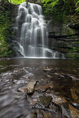 Bridesmaid's Falls, Bushkill PA (CliffPetersonPhotography) Tags: canon landscape spring cloudy hike evergreen waterfalls streams filters streamsandwaterfalls newflickr leefilters bridesmaidsfalls 5dmkiii 5dmarkiii bridesmaidsfallsbushkillpa