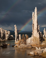Tufa Magic (Jason Branz) Tags: lake reflection water clouds rainbow monolake tufa