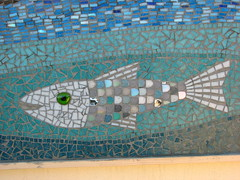 Mosaic (Sparky the Neon Cat) Tags: uk sea england fish europe britain mosaic yorkshire united great north kingdom gb saltburn
