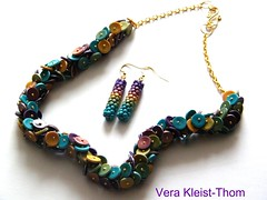 Summer Disc Necklace (beadingvera - Schmuck Ideen Gestaltung) Tags: summer color necklace handmade earring polymerclay etsy disc premo unikat beadingvera pardoprofessionalartclay verakleist verakleistthom