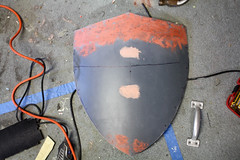 Shield WIP11 (Tsabo Tsaboc) Tags: knights impact cedric shield sir props hillsdale sculpting