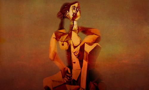 "Mujer Sentada, geometrización de Pablo Picasso (1953), abstracción de Roberto Real de León (2013). • <a style=""font-size:0.8em;"" href=""http://www.flickr.com/photos/30735181@N00/8815896130/"" target=""_blank"">View on Flickr</a>"