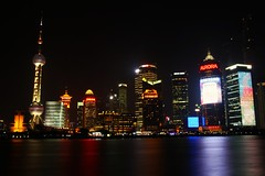 Shanghai @ Night (jasonlsraia) Tags: china shanghai pudong 2013
