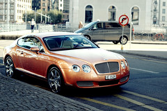 Bentley (wilczooor) Tags: orange car geneva continental gt bentley