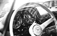Mercedes-Benz 300SL Gullwing (Pasvag) Tags: bw white black classic cars wheel sport benz wheels retro oldtimer dashboard rims 300sl gullwing merecedes sportcars worldcars
