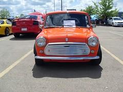 Austin Mini (blondygirl) Tags: auto charity orange car austin stars mini 1979 austinmini june1 maymadness 2013 showshine starsairambulance naitsouthcampus charityshownshine