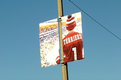 Terriers (Lorianne DiSabato) Tags: sky college boston campus ma massachusetts banner bu bostonuniversity oneaday2013