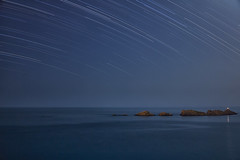 Grebeni Lighthouse Star Trails - Explored 07/06/13 (mark_mullen) Tags: longexposure darkness croatia nighttime astrophotography nightsky hr dubrovnik stacked startrails dalmatia canon24105f4 babinkuk rotationoftheearth canon5dmk3 markmullenphotography starstax grebenilighthouse