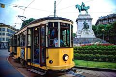 IT Milan - ATM Peter Witt tram #1789 on line 1, Piazza Cairoli (David Pirmann) Tags: italy milan italia tram transit streetcar peterwitt piazzacairoli