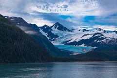 Glacier (Bridgeport Mike) Tags: ocean cruise sky snow mountains ice nature water clouds landscape glacier img2097 whittieralaskaunitedstates