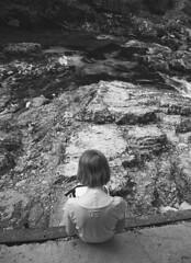 Gretel (dianamegyes) Tags: trip summer bw white black nature child slovenia gorge vintgar radovna soteska gorje vled