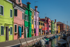 Homes (Brian Hammonds) Tags: trip travel blue venice houses light shadow red italy green art history water beauty yellow architecture contrast boats italian nikon colorful europe italia european photographer tour bright image euro sightseeing picture vivid historic canals rows photograph gondola venetian traveling burano d600 photophotography