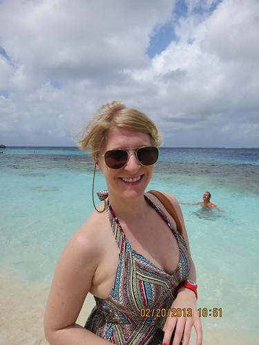 with Rachel, Beach near Flamingo Airport, Bonaire