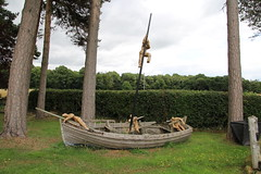 Landlocked (Munki Munki) Tags: garden sailors figurines rowing oar mast woodenboat derelict rudder nyorks parceltape kirkbyfleetham