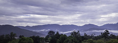 Clouds in the Mountains (AR_the old guy) Tags: california trees panorama mountains clouds raw sombre toned pala