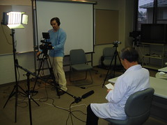 Eric Merola interviewing Dr. Tsuda in Fukuoka, Japan