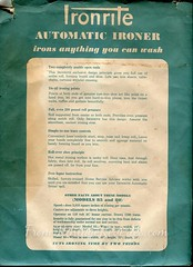 IronRite Ironing Machine Manual (VintageReveries) Tags: vintage scans iron machine retro housework appliance appliances ironing ironrite ironingmachine