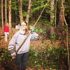 "Buckthorn Blitz going on right now at #UNH! College Woods is being overrun with glossy buckthorn, a non-native invasive shrub that crowds out native plants. Volunteers are hand-pulling out the buckthorn today from 9-11:30am and 1:30 - 3:30pm. Come prepare • <a style=""font-size:0.8em;"" href=""http://www.flickr.com/photos/69402606@N06/10170965255/"" target=""_blank"">View on Flickr</a>"