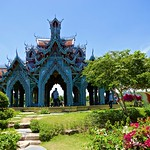 Shrine/temple at Sumeru Mountain in Muang Boran (Ancient Siam) in Samut Prakan, Thailand thumbnail