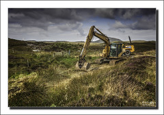 Construction works (Descended from Ding the Devil) Tags: scotland wideangle hdr digger isleoflewis hebrides sigma1020 singleraw contrastoptimizer photomatixpro5