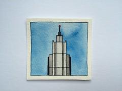 skyscraper (Alexey Tyudelekov) Tags: skyscraper watercolor drawing petersburg watercolour draw