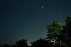 Iridium again (Adrian Chiru) Tags: trees sky night stars solar europe venus satellite flash system galaxy romania flare planet iridium calarasi