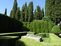 La Foce gardens, near Montepulciano (Poutik) Tags: trees grass sculptures cypres