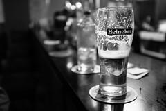 Thirsty! (Martyn61) Tags: kilmore wexford county village bw blackandwhite monochrome fujifilm x100t beer pint drink carefully drinkanddrive heineken holland beermat bar social offthestreet pub quigleysbarkilmorevillage