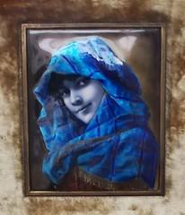 Portrait of a woman / Ni portr (Ferencdiak) Tags: brass painted enamel hungary budapest 1890s metallwork tvsmunka festett zomnc srgarz hibjnsamu kk blue ni portr