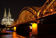 """ nightshot Kln "" #Hohenzollern Brcke and the Klner Dom# (Kalbonsai) Tags: kln city nightshot dom kirche water rein river rivier nikon d5100 1685mm germany outdoorphotography"