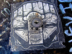 GATS, San Francisco, CA (Robby Virus) Tags: sanfrancisco california sf gats sticker slap street art tiki head teeth graffiti against system exotic