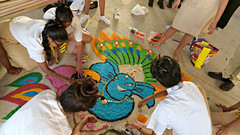 Diwali 2016 #4 (*Amanda Richards) Tags: diwali guyana guyanahindudharmicsabha georgetown rangoli creatingrangoli rice colours colouredrice hindu festivaloflights darkestnight