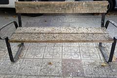It is raining pigeon s... (Micheo) Tags: granada spain sucio dirty pigeon shit banco bench dove mierda porquera pjaros birds suciedad