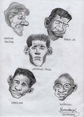 CHARGES - Os Heris Do Penta (Artemarcello - Criaes e Design -) Tags: artemarcello desenhosalpisgrafite charges juninhopaulista roquejrandersonpolga edmilson klberson