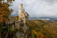 Schloss Lichtenstein (Marcel Cavelti) Tags: bq0a9006bearb lichtenstein schloss burg germany autumn landscape outdoor mountain clouds