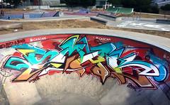 LISBON (SMAK TOWN) Tags: smak graffiti lisbo lisboa slap lisbin lisbon graff welsh bristol parque das geraoes skate skatepark vans shop riot bowl