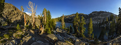 Evening mood at Altha Lake (speedcenter2001) Tags: highsierra sierranevada sierra california mountains wilderness anseladamswilderness backpacking hiking nature backcountry panorama nikon16mmf35ai fisheye