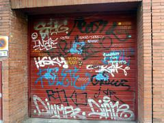 Graffiti in Barcelona 2013 (kami68k []) Tags: barcelona 2013 graffiti illegal bombing tag tags tagging handstyle handstyles ehg kush hotdog hdog dinma diare inaf boms