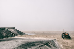 the stray souls I (johann walter bantz) Tags: surréalisme surréaliste mystery nikond4s brume fog normandy normandie beach plage strand color nature mystic suspense sea mer