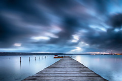 Blue Night (Evgeni Dinev) Tags: bulgaria kazashko varna autumn dusk quay sunset