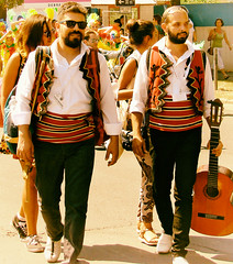 Pairs (max tuguese) Tags: man men pairs color street sun sunshine festival carnival beard sony maxtuguese outdoor walk